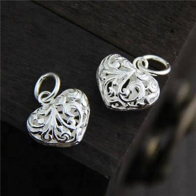 Heart love Dangle Charms Silver 925 DIY Jewelry Fit Bracelets & Necklaces for Women Sterling-Silver-Jewelry