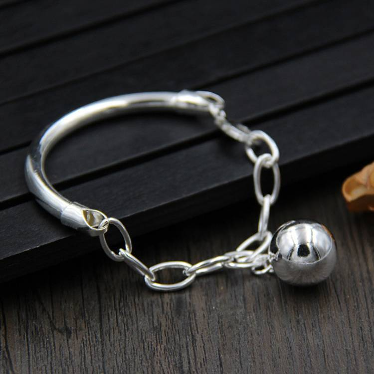 S925 Sterling Silver With Beads Pendant Bracelet Female Models Simple Korean Bracelet Featured Image