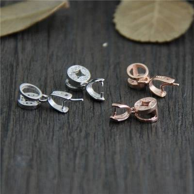 925 Sterling Silver DIY Bracelet Buttons Necklace Pendant Buckle Clasp Connector Clasps Clips Jewelry Making
