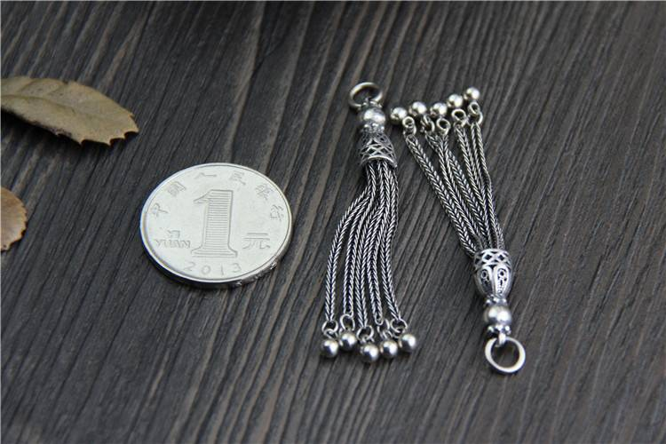 925 Sterling Silver DIY Tassel Vintage Charms for Pendant Fashion DIY Bracelet Necklace For Jewelry Accessories Making