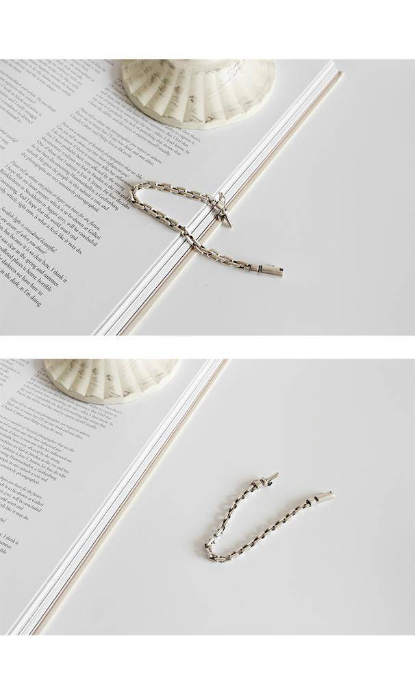 925 sterling silver personality retro old cross chain bracelet  jewelry