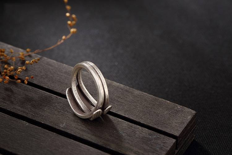 Original 925 Sterling Silver Thailand Handmade Vintage Braided Ring For Women Engagement Wedding Gift Lady Fine Jewelry