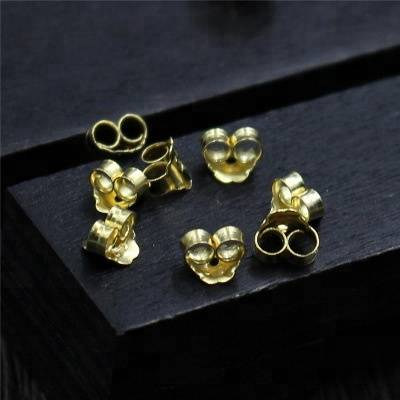 925 Sterling Silver Earrings Back Stopper Component Earrings Jewelry Accessories gold Component for Women Earrings Ear Post Nuts