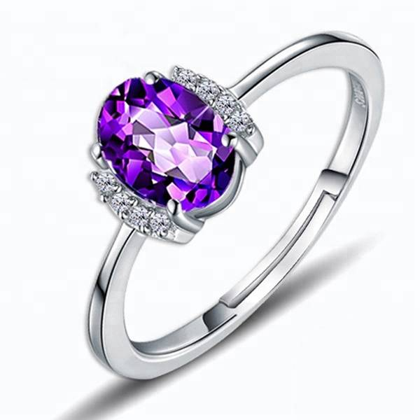 925 Sterling Silver Crystal Finger Ring for Women Fashion Engagement Ring Jewelry