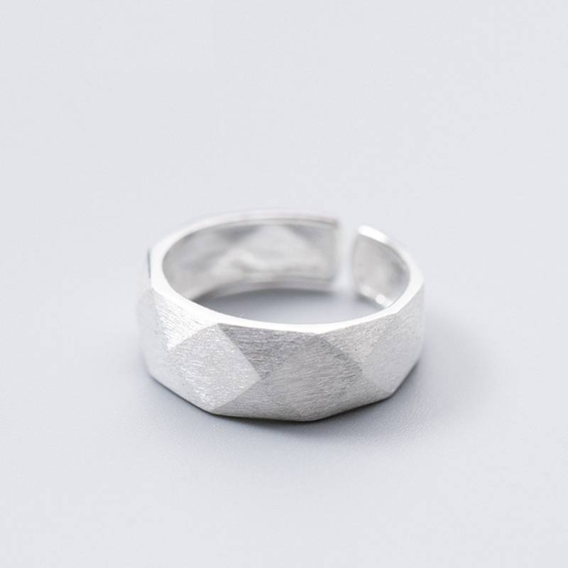 Factory Price 100% 925 Sterling Silver Fashion Minimalism Geometric Open Ring Fine Jewelry for Female