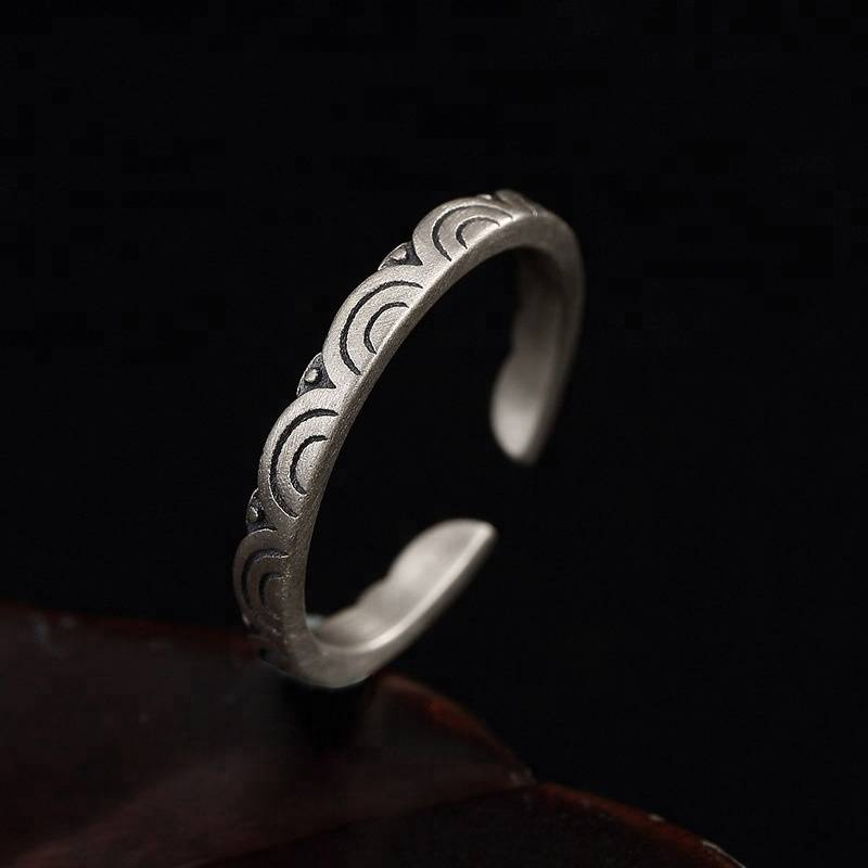 New Arrivals 925 Sterling Silver Clouds Rings Open Rings Jewelry For Women Girl Men Gift