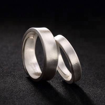 990 Pure Sterling Silver Brushed Thick Band Rings For Women Wedding Engagement Ring Jewelry Finger Anillos Bague Aneis bijoux
