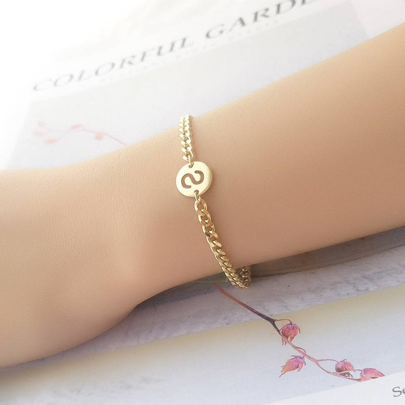 Korea Hot Style Pure 925 Sterling Silver Bracelets Delicate Fashion Gold Chain Bracelets Jewelry for Student