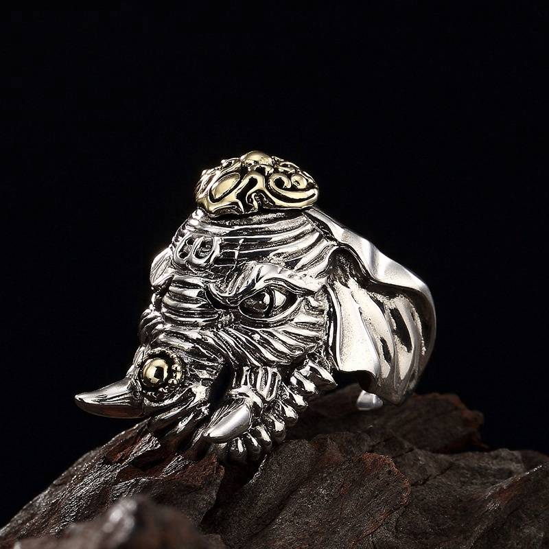 925 Sterling Silver Rings for Women Mythical Animals Ring Vintage Beast Carved Ring Fine Jewelry Featured Image