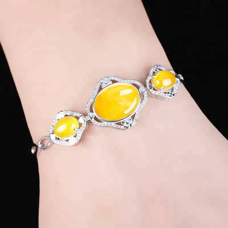925 Sterling Silver Bracelet White Gold Color Bracelet Blank Settings 11.7*15.6mm 8*10mm Oval Cabochon Opal Agate Amber Setting