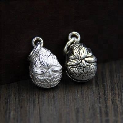 925 Sterling Silver Charms DIY Bracelet Necklace Bangle Water Drop Bell Lotus Flower Charms Handmade Jewelry Making