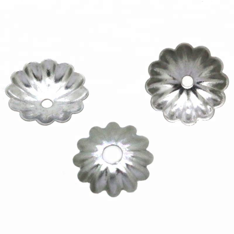 6-10mm Stainless Steel Flowers Bead Caps For Jewelry Findings & Components Hollow Caps Fit DIY Accessories Jewelry Findings