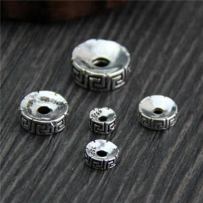 925 Thai Silver spacer beads DIY bracelet necklace accessories Featured Image