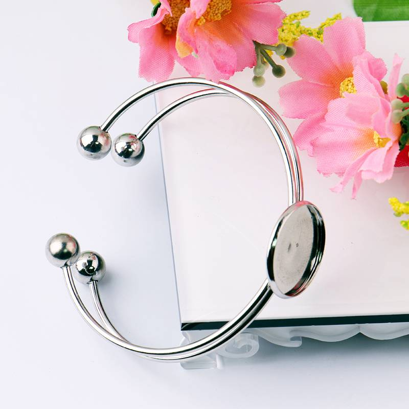 Adjustable Cuff Bangle and Bracelets Blank DIY Jewelry Findings Settings Wholesale