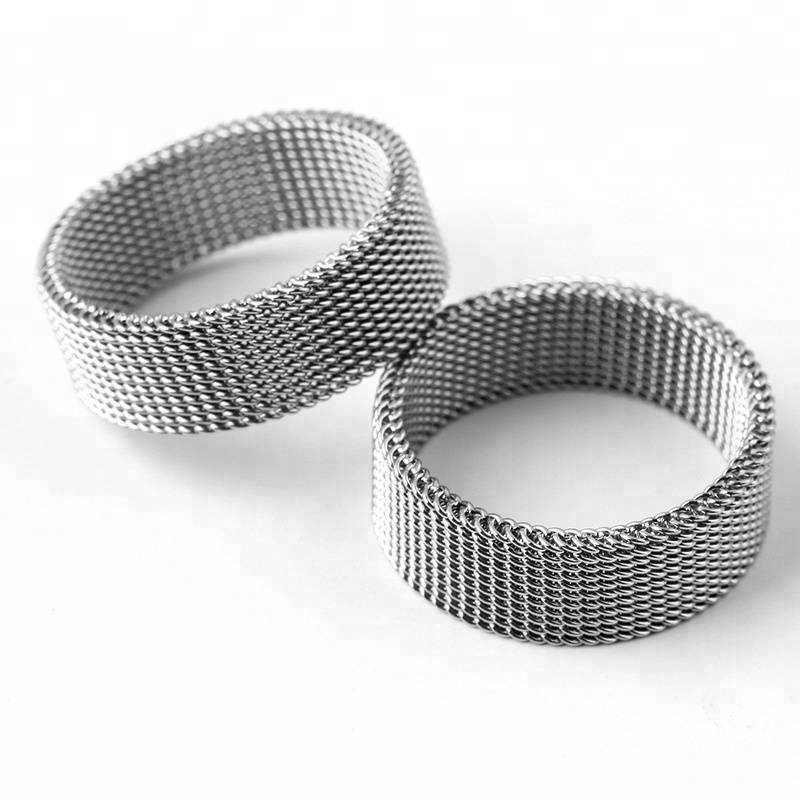 Gothic Weave Ring For Man Woman Stainless Steel High Quality Fashion Jewelry Wholesale