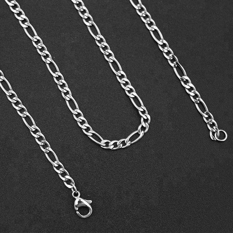 2018 Fashion 55 cm Stainless Steel Curb Cuban Long Necklace Chain for Men Women