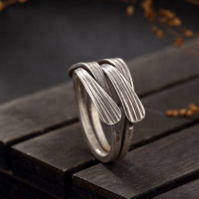 Original 925 Sterling Silver Thailand Handmade Vintage Braided Ring For Women Engagement Wedding Gift Lady Fine Jewelry Featured Image
