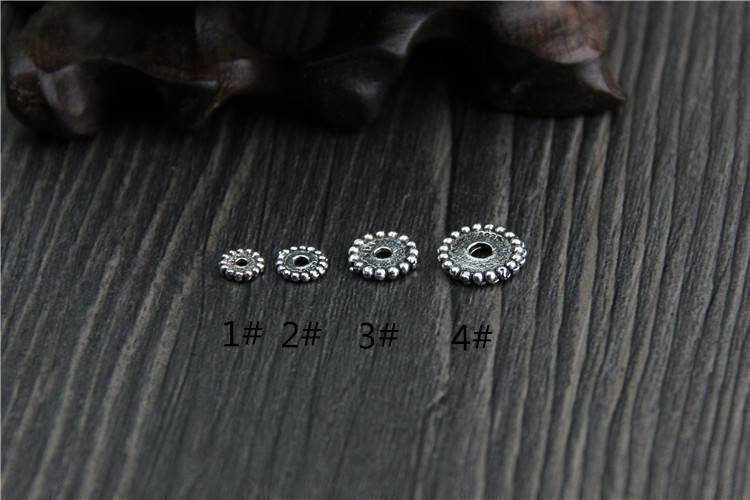5mm 6mm 8mm 10mm 925S Silver Round Circle Beads DIY Bracelet Necklace Bangle Spacer Beads For Jewelry Making