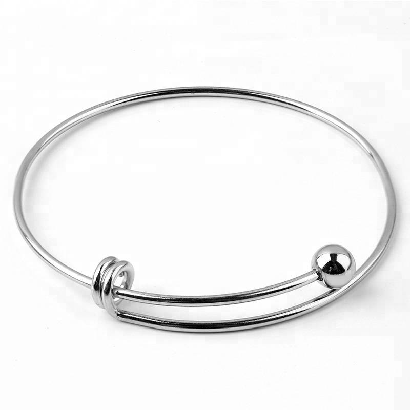 Adjustable Bangles Stainless Steel Cuff Bangle Bracelet DIY Jewelry Making Accessories
