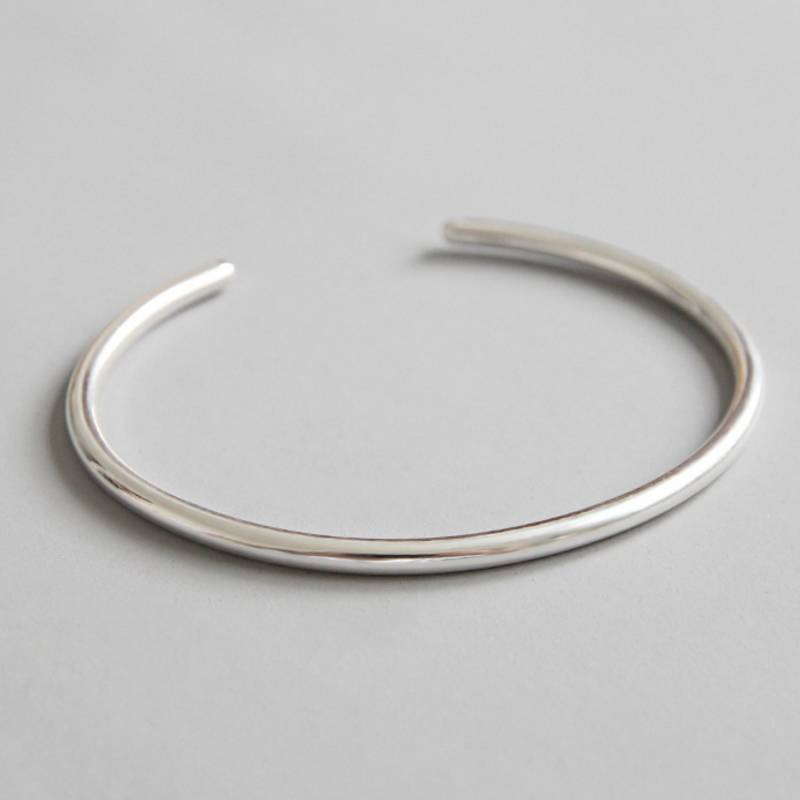 Factory Price 100% 925 Sterling Silver Bangle Fashion Minimalism Open Bangle Bracelets Fine Jewelry for Female