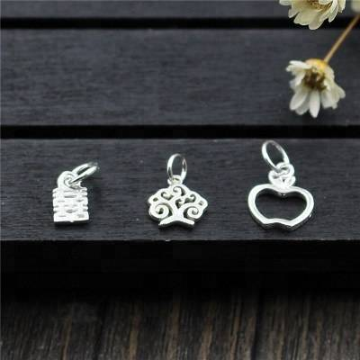925 Sterling Silver Charms DIY Bracelet Necklace Pendant Hollow Pendant Charms For Jewelry Making