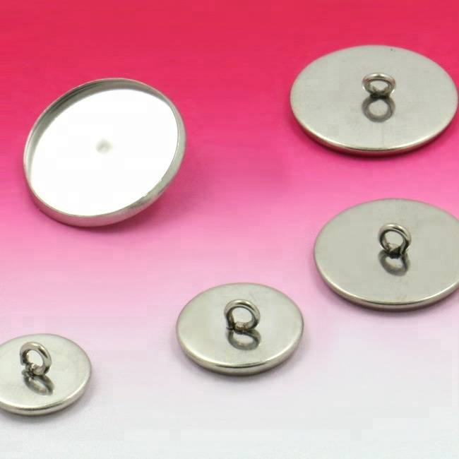 8-20mm Steel Stainless Metal Pendant Bracelet Tray/Blank Connector Bezel Setting Tray for Cameo Cabochons