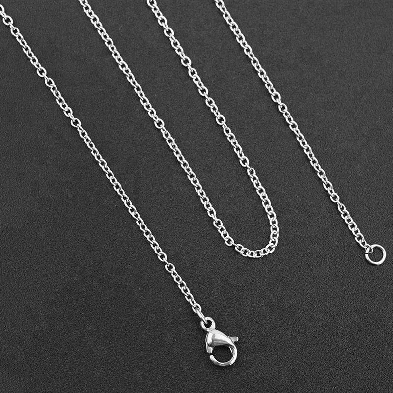 Length 45cm 50cm Stainless Steel  Chain High Quality Link Necklace Chain