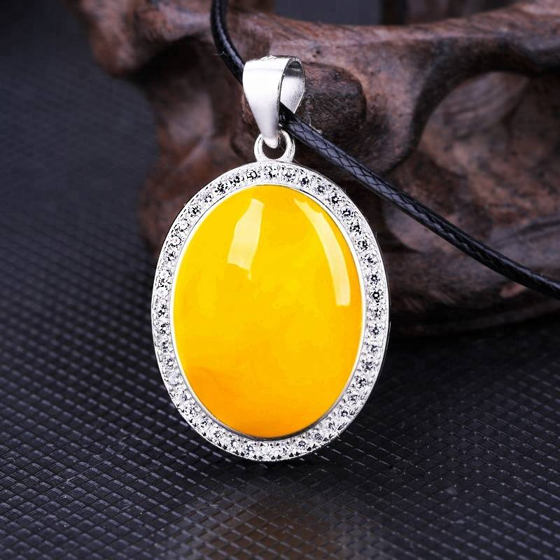 12*16mm S925 sterling silver white gold ladies pendant empty inlay beeswax turquoise amber pendant blank