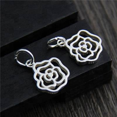 925 Sterling Silver Charms DIY Bracelet Pendant Necklace Big Ring Rose Sliver Charms Accessories For Jewelry Making