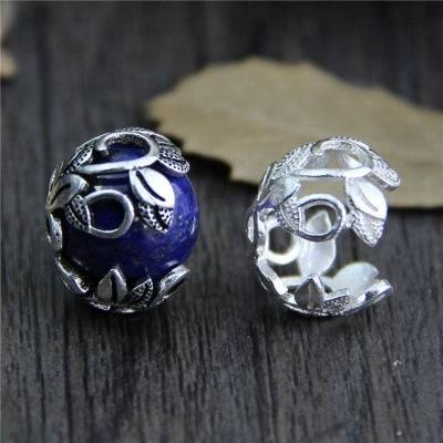 925 Sterling Silver Bracelet Flower Beads Cap Spacer For Jewelry Making Beads Bracelets DIY Accessories