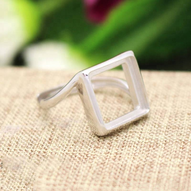 Handmade 925 Sterling Silver Blank Cabochon Ring Base Setting Women Nice Gift Jewelry