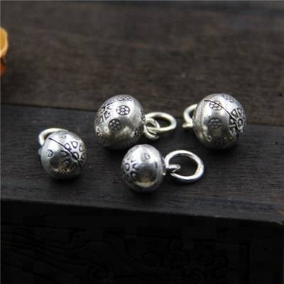 925 sterling silver accessories jewelry DIY bead bells pendant 8mm9mm10mm bracelet pendant