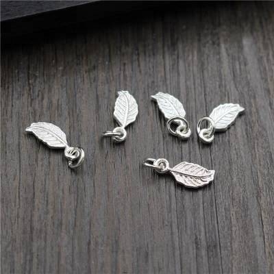 Vintage 925 Sterling Silver Charms DIY Bracelets Necklace Bangle Leaf Charms Pendant Charms For Jewelry Making