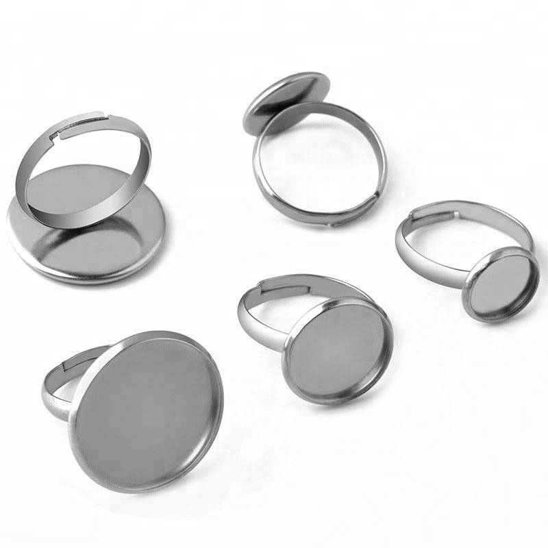 Stainless steel Cabochon Earring Settings Blank Base Diy Stud Earrings Findings