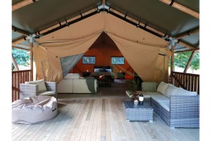 Luxury Family Camping Tent Safari Tent For Outdoor Glamping NO.034