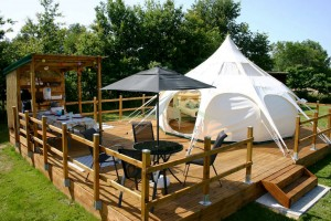 New design outdoor waterproof glamping canvas bell tent NO.001