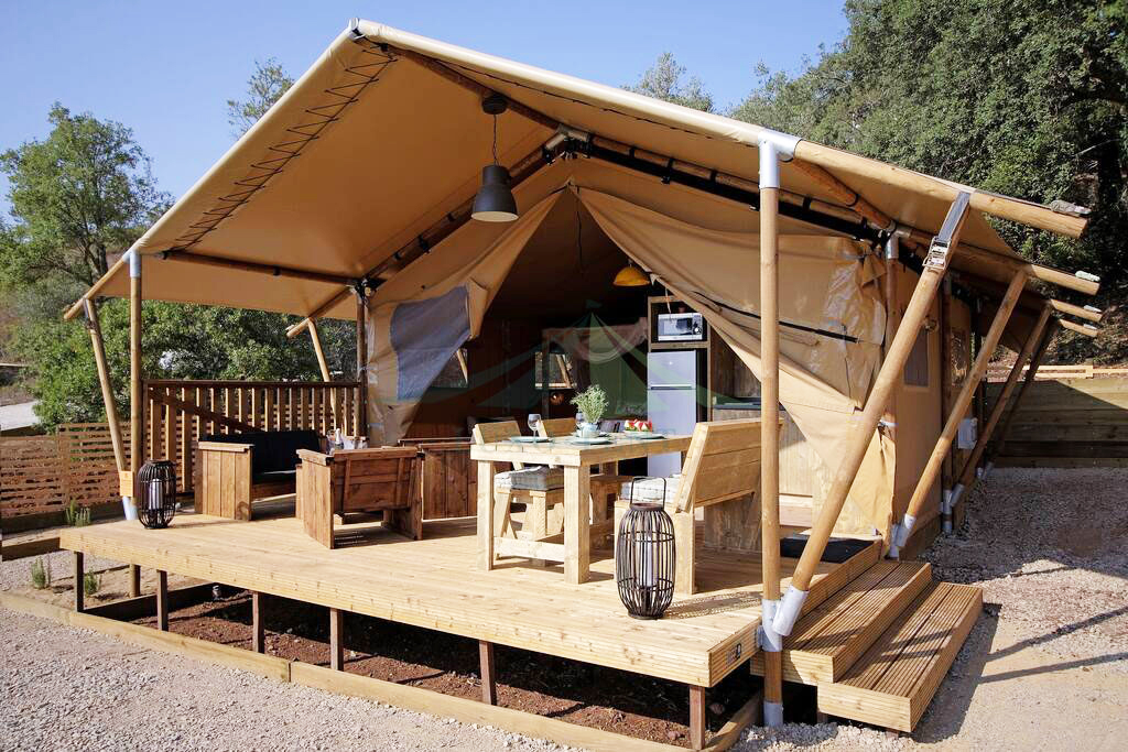 Luxury Family Design Camping application safari tent hotel for sale NO.045 Featured Image