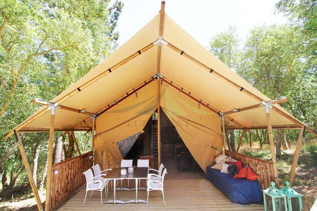 7*5m diameter safari tent for sale glamping luxury hotel tent NO.048 Featured Image