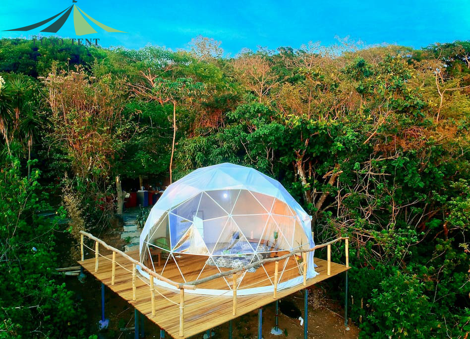 Manufactur standard Arch Geodestic Dome Tent - The 6m diameter glamping dome tent – Aixiang Featured Image