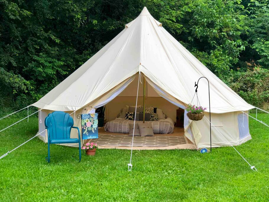 Fixed Competitive Price Waterproof Camping Tent - Glamping luxury camping house bell tent 3-6m diameter hot sale NO.031 – Aixiang Featured Image