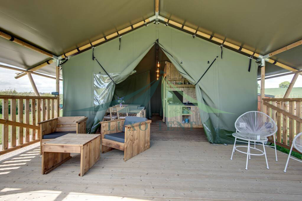 One of Hottest for Family Dome Tent - Glamping Luxury Tent PVC Canvas film the Safari Tent NO.020 – Aixiang