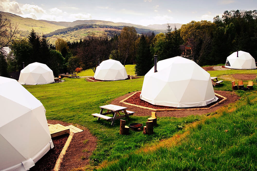 Geodesic Dome Tent Glamping Featured Image