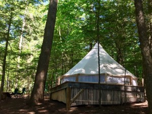 Out door glamping resort bell tent for family canvas tent NO.009