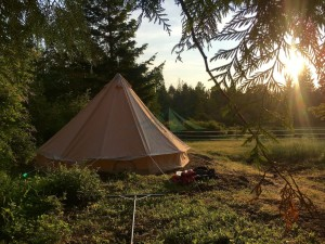 Cotton Canvas Bell Tent Safari Bell Tent 3m Glamping Bell Tent NO.087