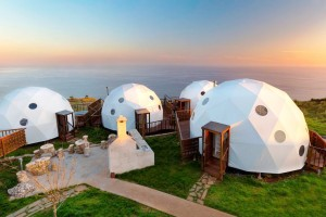 Luxury Dome Tent The Coastal Scenery