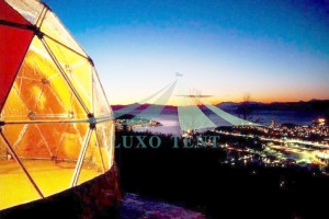 Glamping the 6m diameter dome tent with a view of aurora and wild snow Part.2
