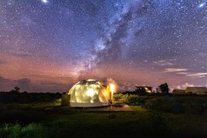 The 8m diameter glamping dome tent on the wilderness NO.035
