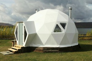 Customer settings pure white 6m diameter dome tent with stove and automatic ventilation NO.036