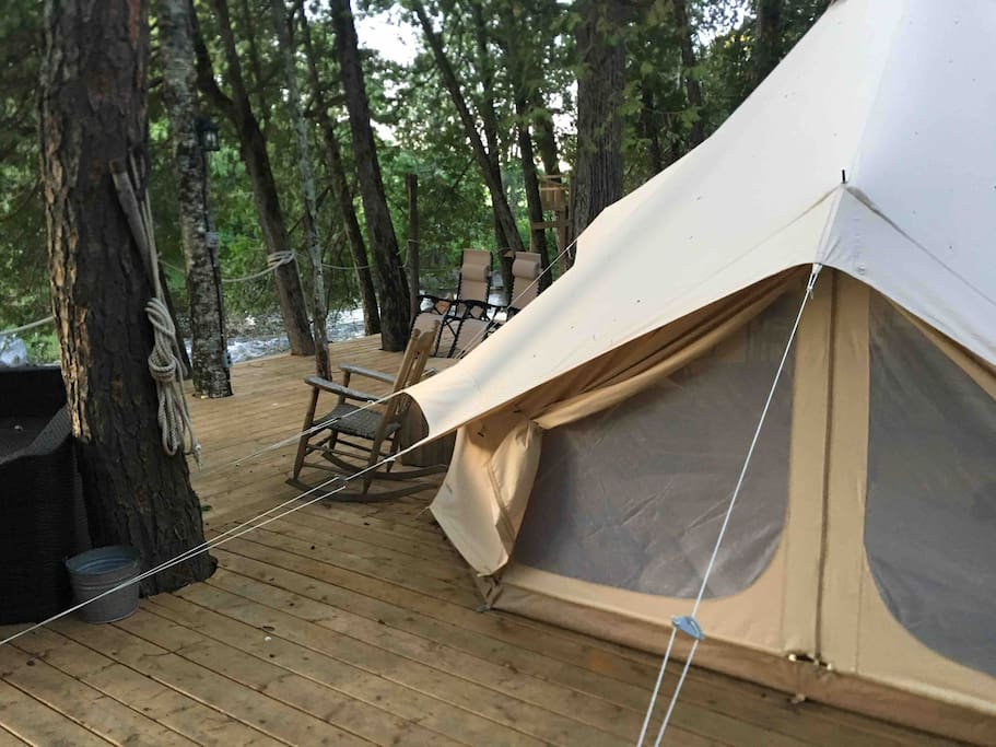 Factory Cheap Dome Glamping Tent - High quality luxury bell glamping tent for camping resort NO.004 – Aixiang
