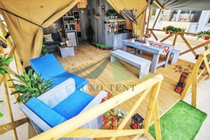 Hot sale Glamping luxury film cover tent Safari hotel tent NO.025